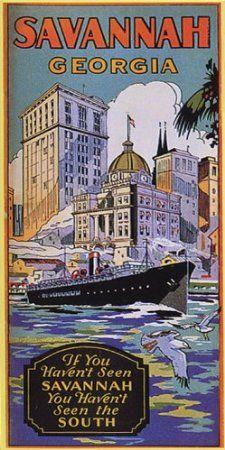 Amazon com: SAVANNAH GEORGIA SHIP BOAT SOUTH TRAVEL TOURISM
