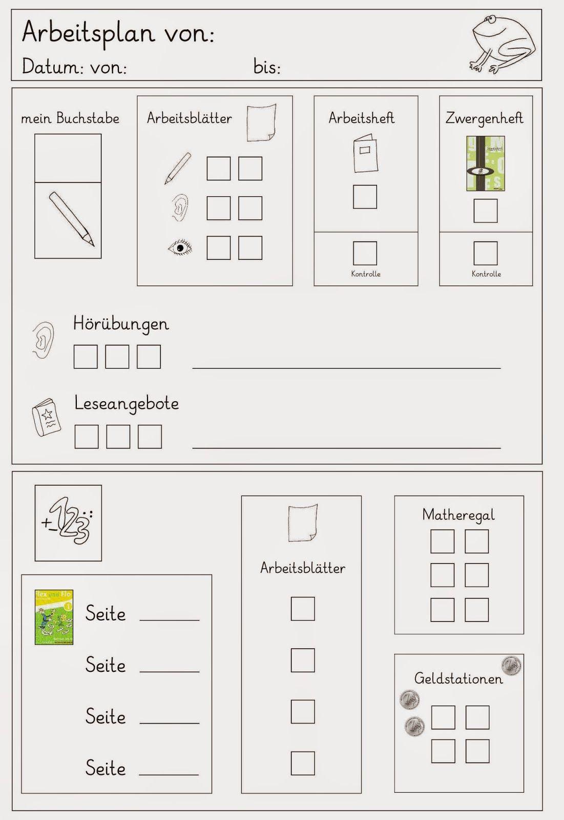 Lernstübchen: wieder mal ein Arbeitsplan | Ideen für den Unterricht ...