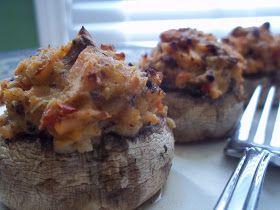 Snackers Delight: Salmon Stuffed Mushroom Caps