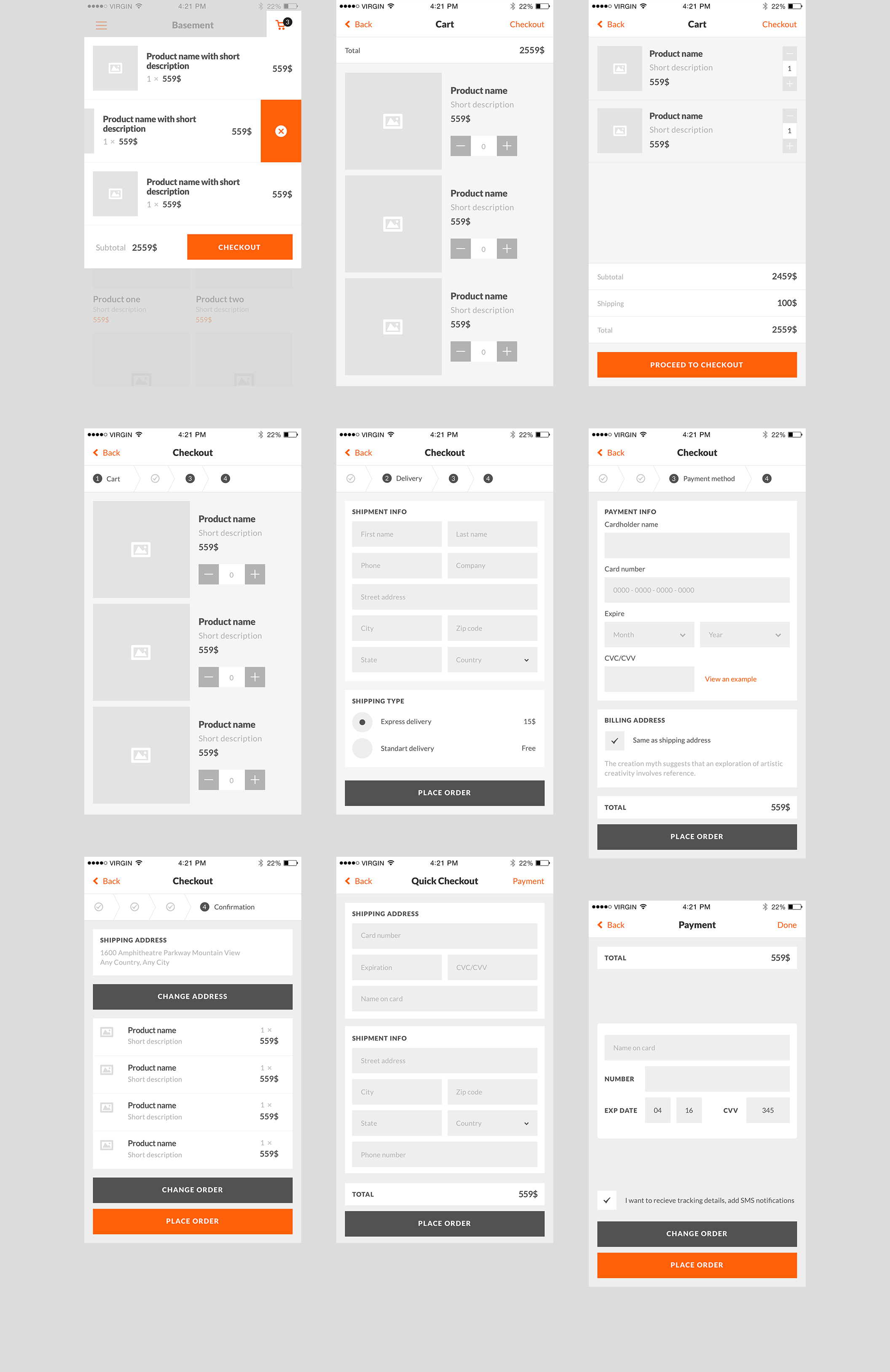 Basement iOS wireframe kit is a great sequel to the