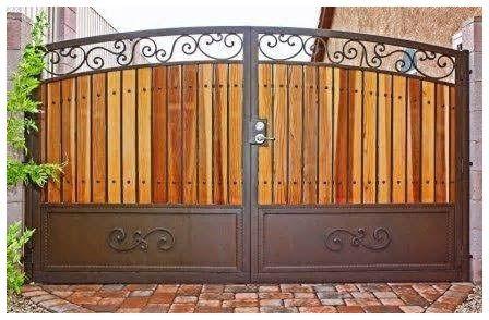 Portones de hierro para cochera casas moderna for Portones de hierro para garage