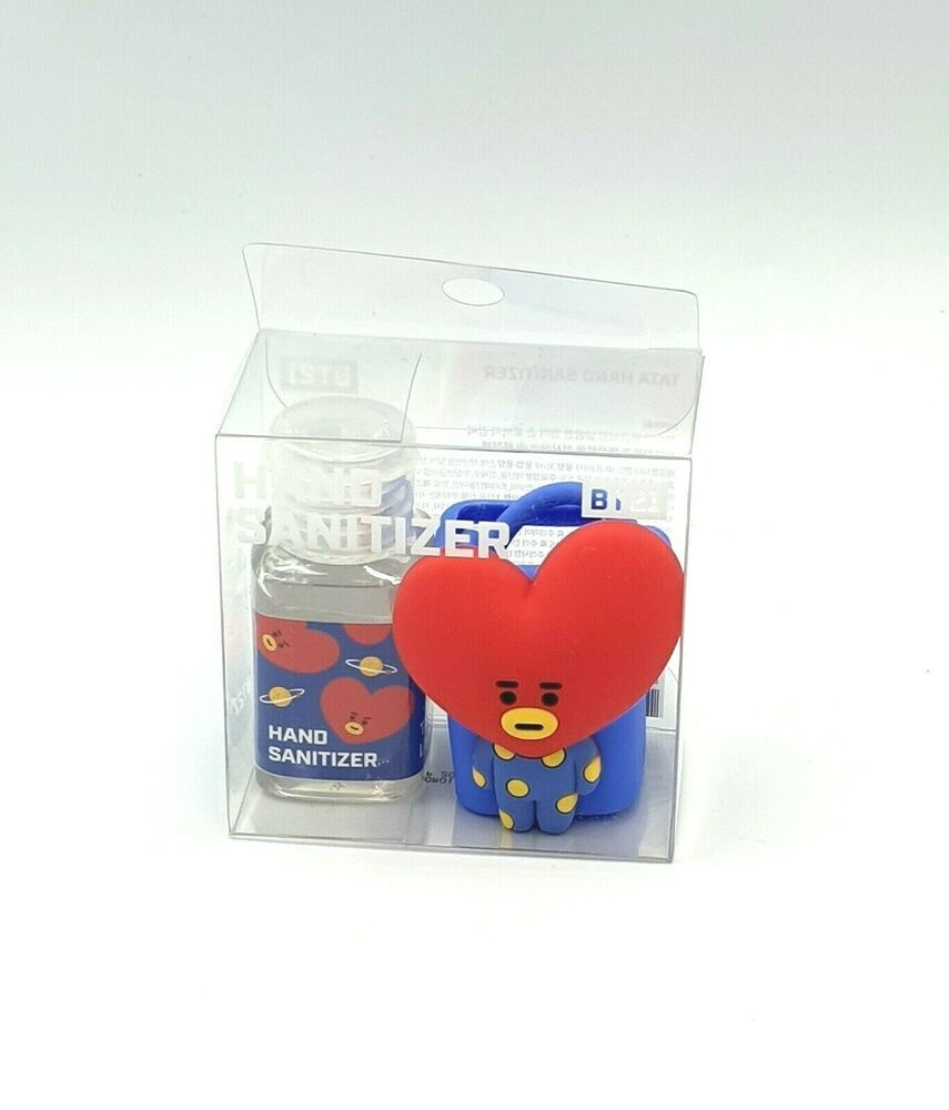 Bt21 Official Portable Hand Sanitizer 30ml Figure Holder Set Tata