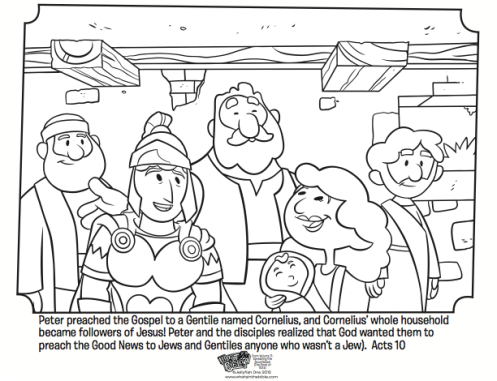 Peter And Cornelius Sunday School Coloring Pages Sunday