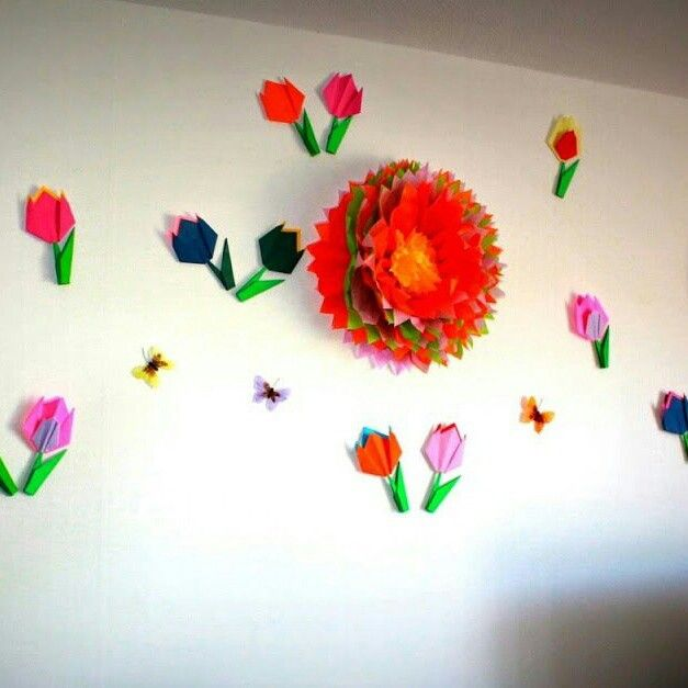 Tulips 2d And 3d Tissue Flowers Flower Party Deco Tissue Flowers Flower Party Diy Design