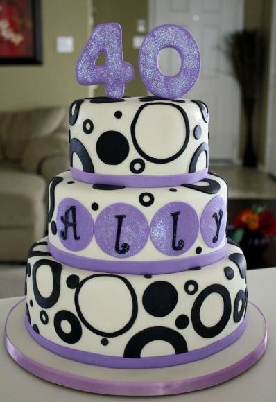 Terrific 40Th Birthday Cake This Is Cute And Also In Purple 40Th Funny Birthday Cards Online Inifofree Goldxyz