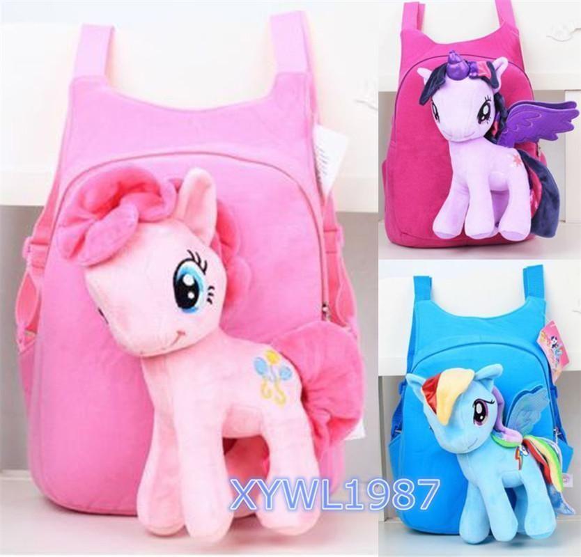 4fc97980e44b My Little Pony Pinkie Pie Plush Doll Cartoon Kid Boys Girls School Bag  Backpack  xiongyi