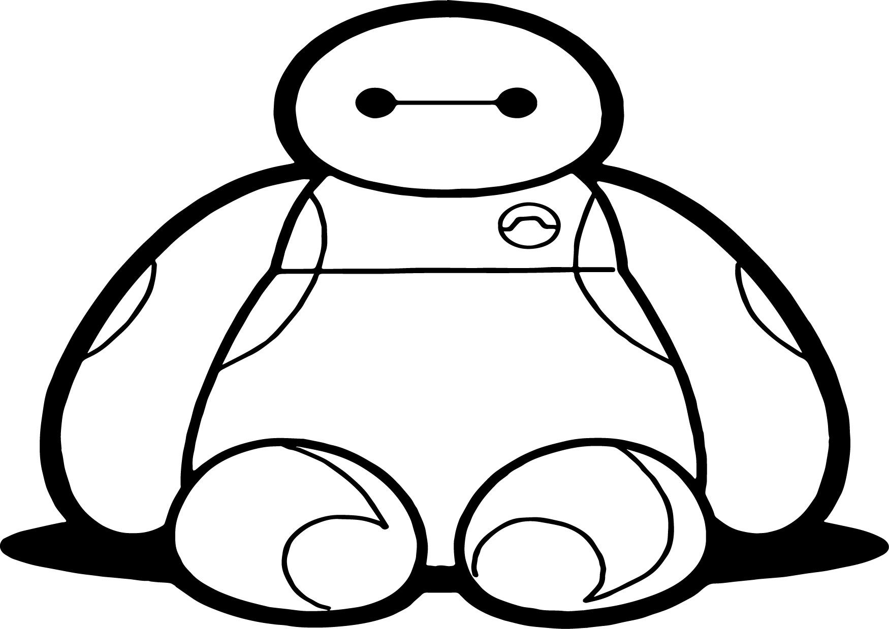 Big Hero 6 Characters Baymax Front Coloring Page 6 Super