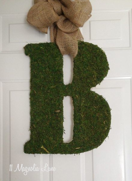 Diy Moss Lettersbring A Burst Of Spring To Your Front Door Door