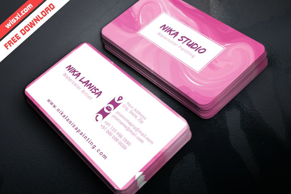 Artist business card template free download