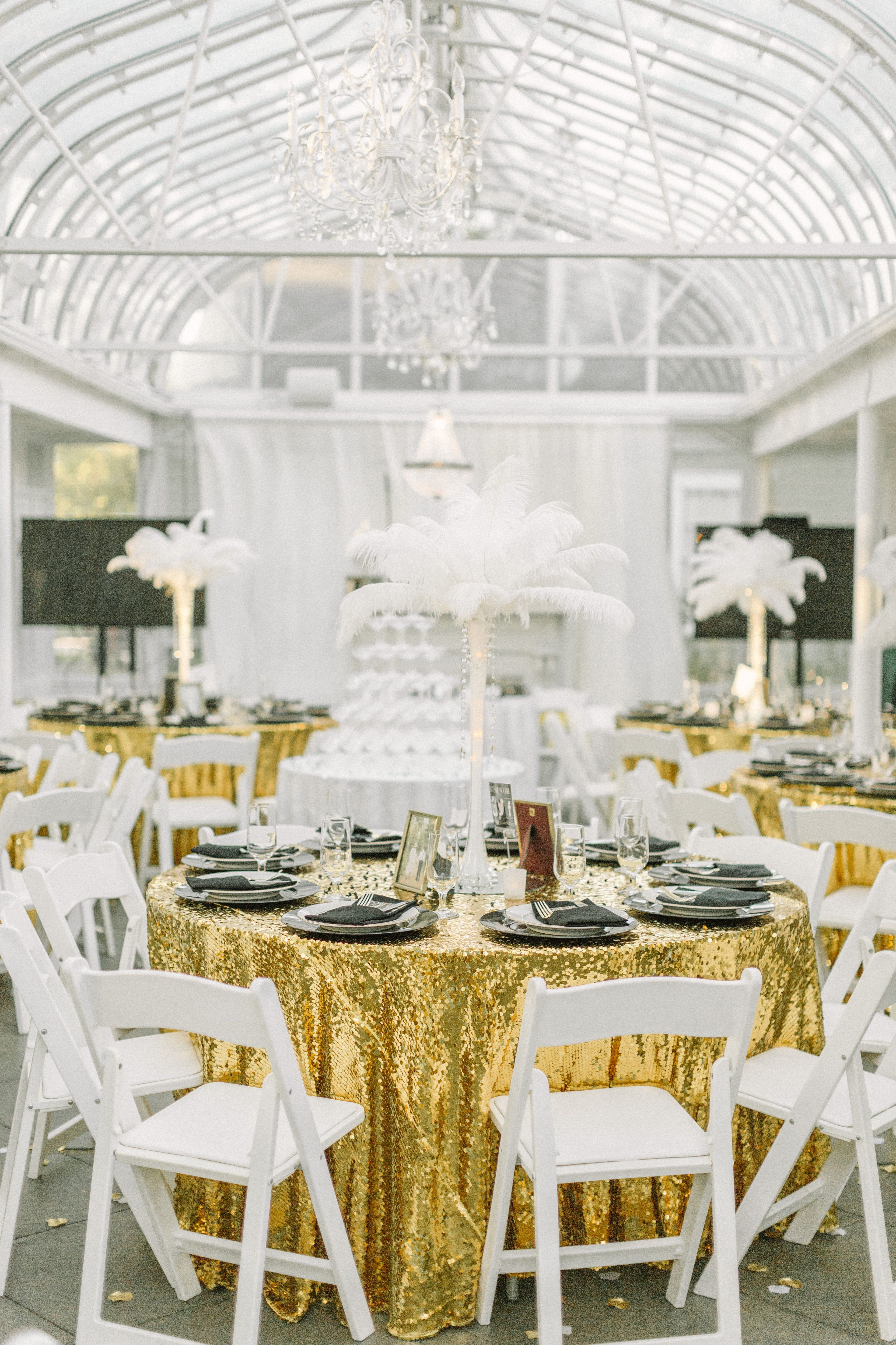 Art Deco Black and Gold Dining Tables | Art Deco Weddings ...
