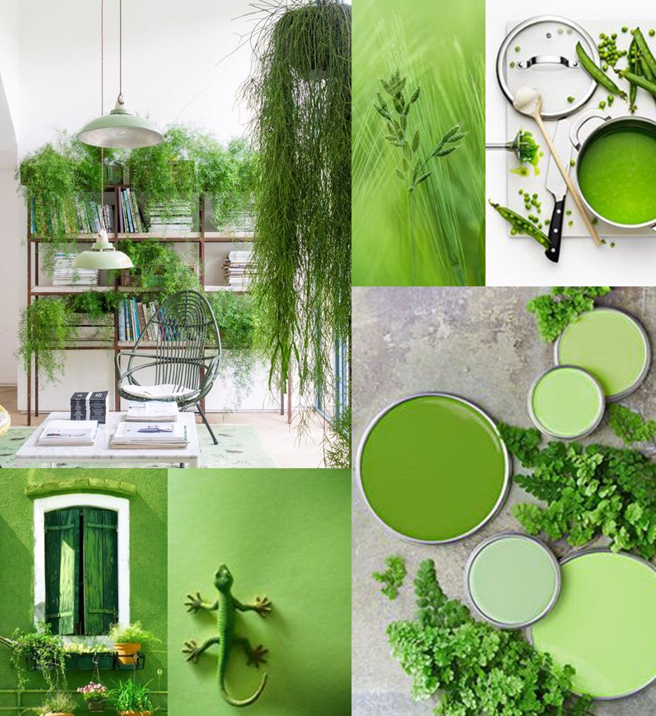 Pantone declared color of the year 2017 pantone greenery - 2017 pantone view home interiors palettes ...