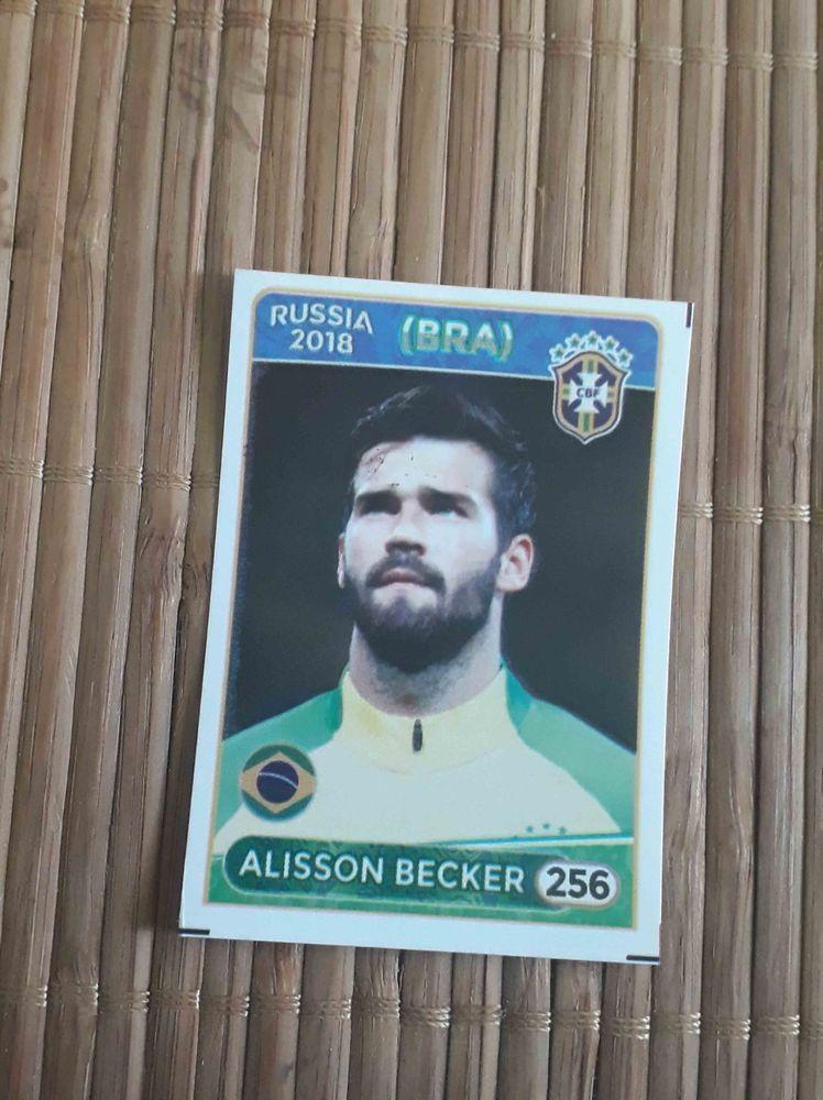 Alisson becker brazil liverpool roma sticker 256 world