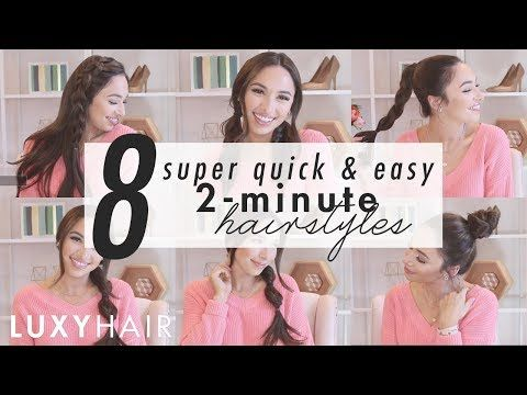 2 Minute Hairstyles 8 Super Quick & Easy 2Minute Hairstyles  Easy Hairstyles Quick