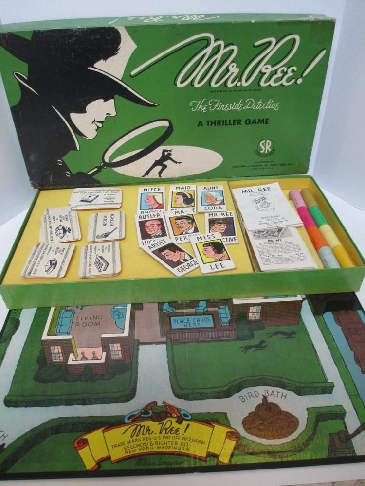 Complete 1946 Mr Ree Board Game Selchow Righter Toys Games Pre Clue Vintage Board Games Vintage Board Games Vintage Games