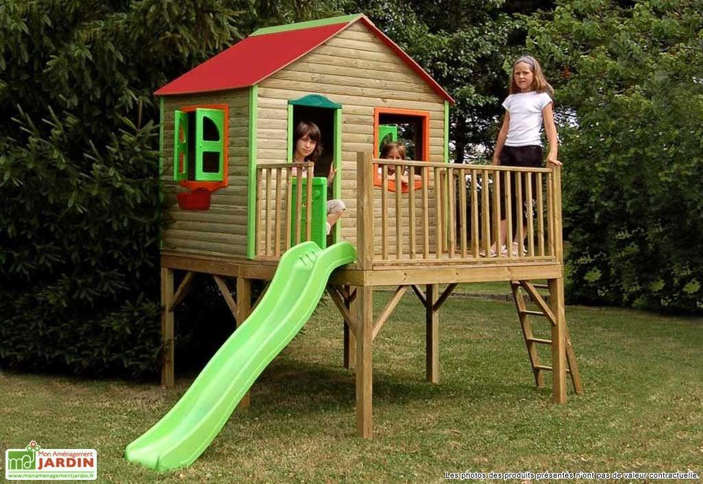 maison enfant bois et plastique aurore jeux d 39 enfants pinterest cabane enfant maisonnette. Black Bedroom Furniture Sets. Home Design Ideas