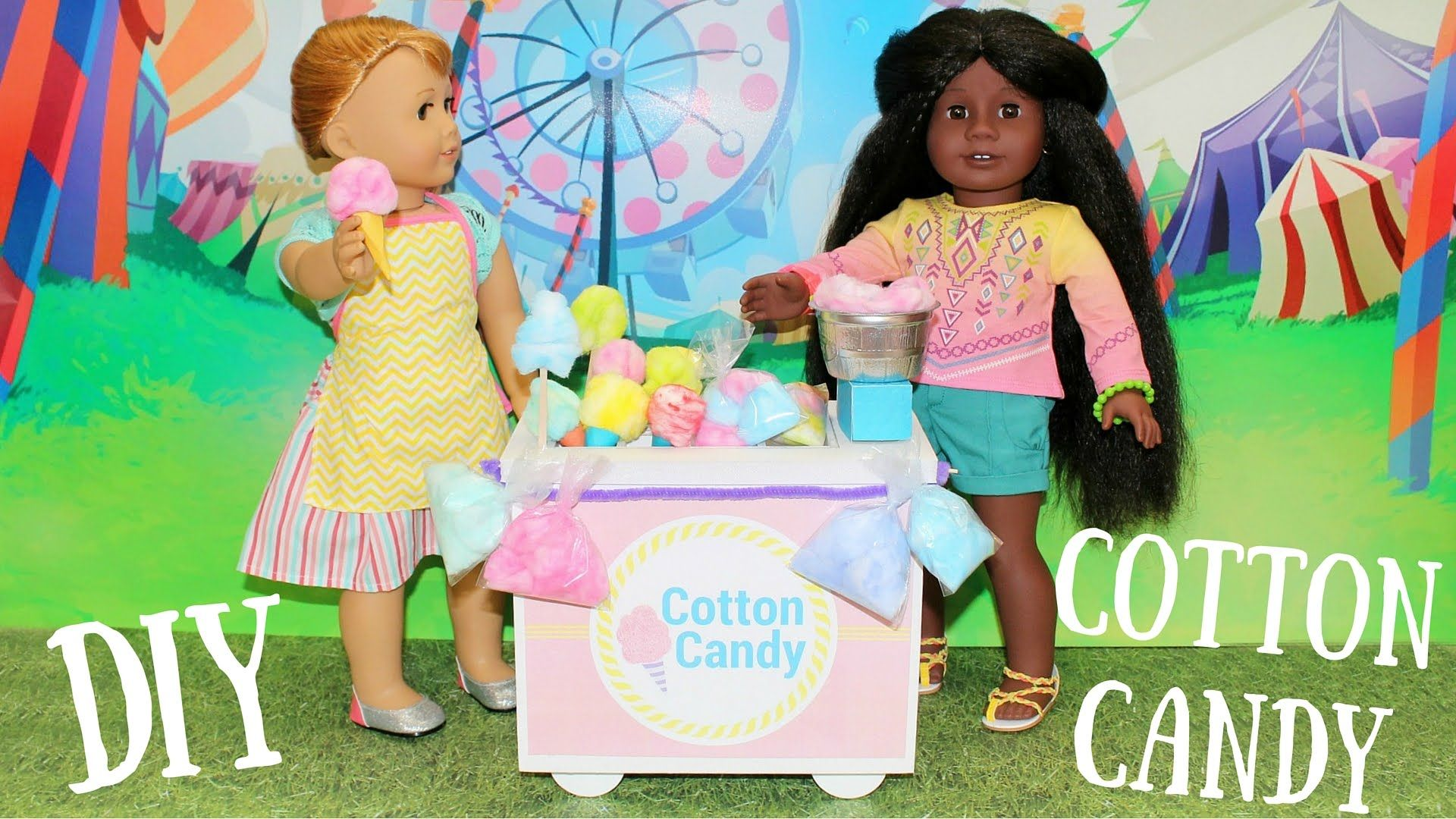 American Girl Diy Cotton Candy Cart Craft American Girl