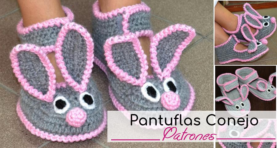 Aprende como hacer estas hermosas pantuflas de conejito utilizando ...