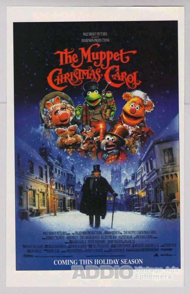 The Muppet Christmas Carol Trailer 1992.Details About Muppet Christmas Carol Movie 90s Disney Print