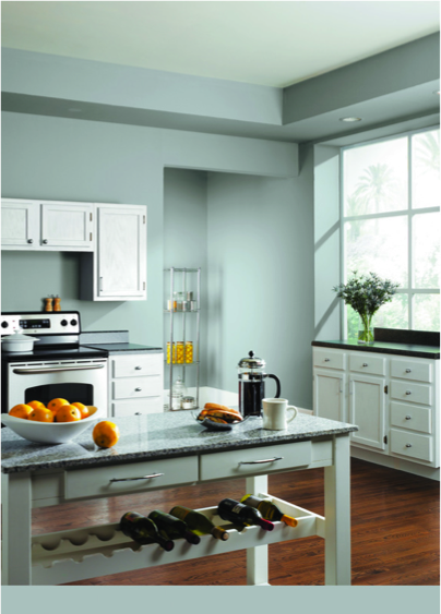 Breezy Sw 7616 Creates A Bright And Relaxing Kitchen Paint