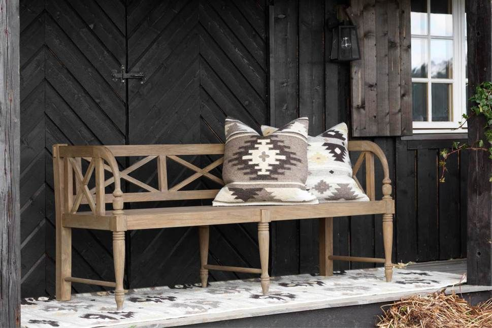 Gorgeous porch- black and birch
