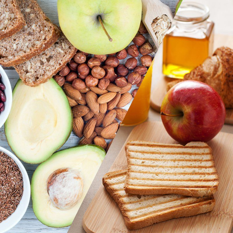 Glycemic index determining high vs low glycemic foods