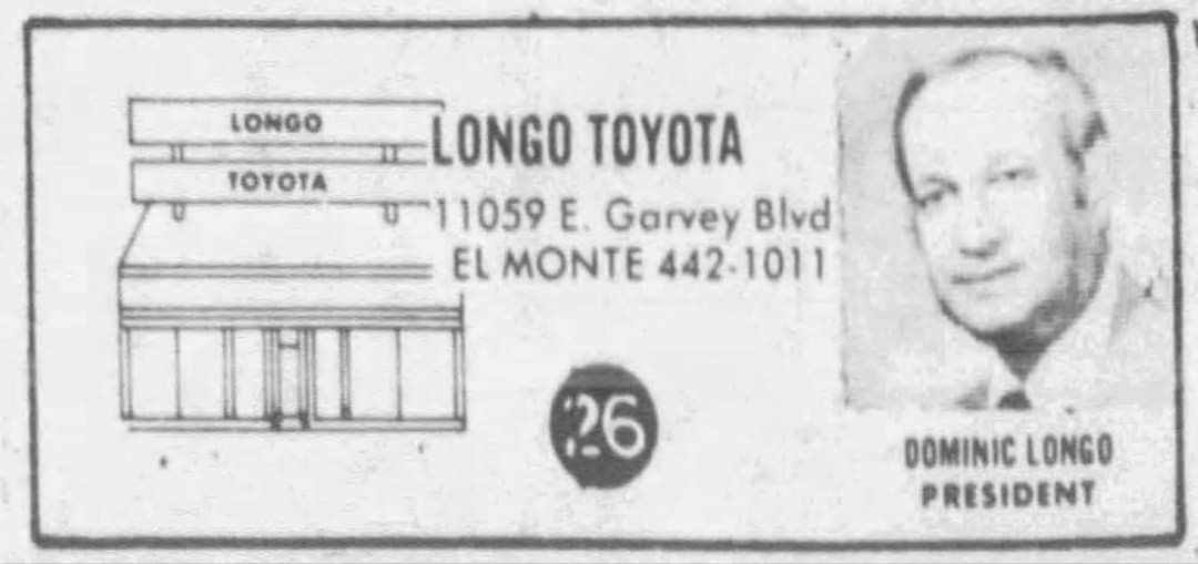 Owner Of A Toyota Dealership In El Monte And Possible Member Of The Los Angeles Crime Family Dominic Longo Toyota Dealership Crime Family Los Angeles
