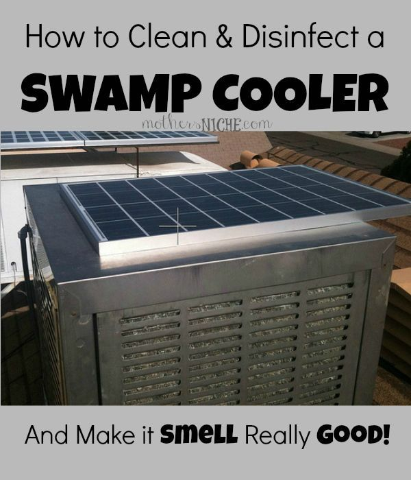 How To Clean Disinfect A Swamp Cooler Make It Smell Good Swamp Cooler Diy Swamp Cooler Cleaning