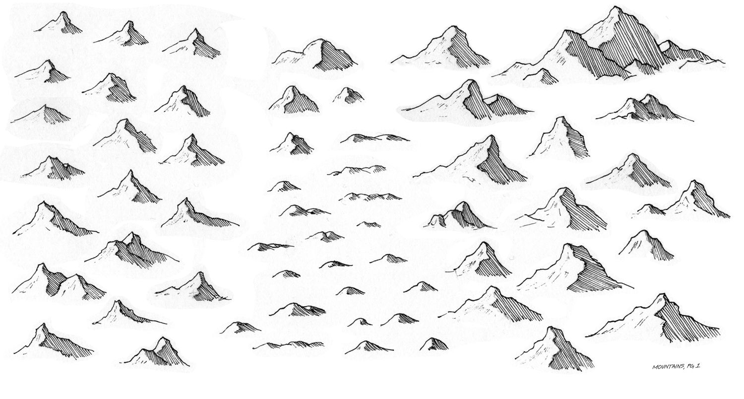 It's just a picture of Clever Drawing Mountains On A Map