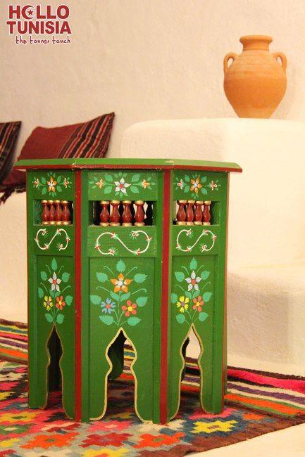Meuble Peint Traditionnel Painted Furniture Salon Decor Tunisia
