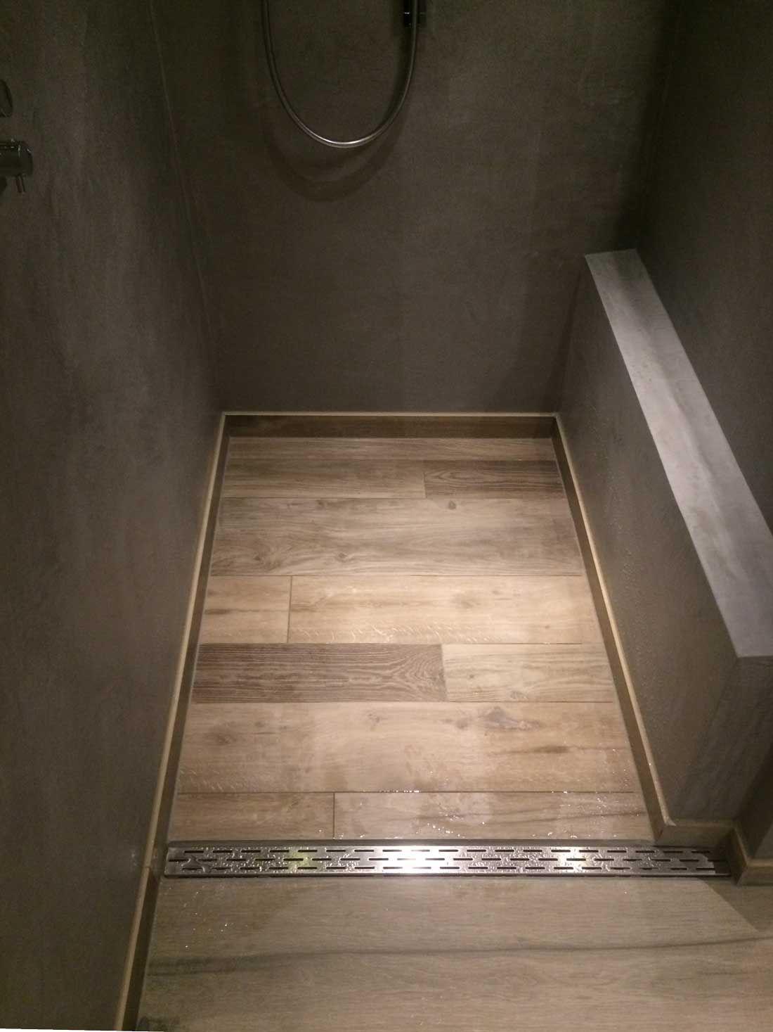 Gestucte badkamers betonlook beal mortex | Necessary Space ...
