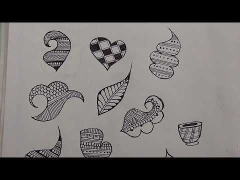 Easy Mehndi Patterns On Paper : How to draw henna designs on paper step by basic shapes
