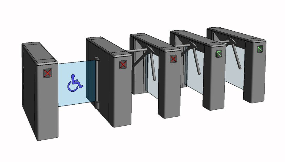 Turnstiles Revit Family | ParaBIM Revit Families | Locker
