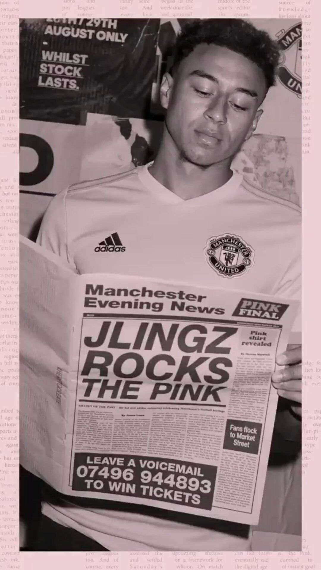 Get Best Manchester United Wallpapers Pink JLingz rocks the pink