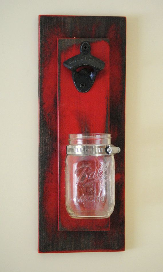 Decorative Bottle Openers Extraordinary Rustic Mason Jar Bottle Opener  Decorative Bottle Remove  Hand Inspiration