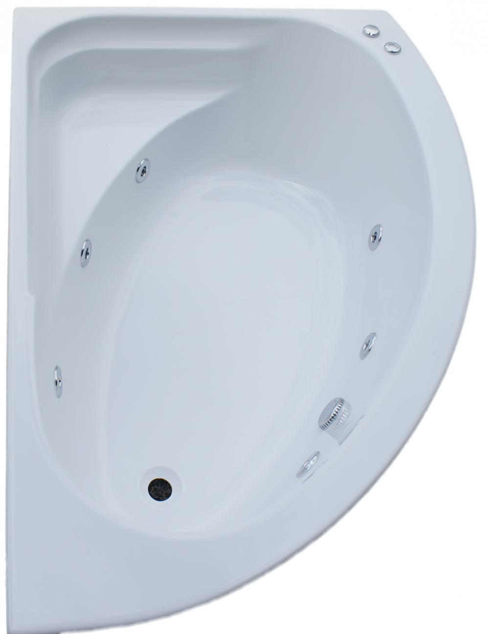 RH Trojan Orlando 6 Jet Whirlpool Bath | Corner Jacuzzi Whirlpool ...