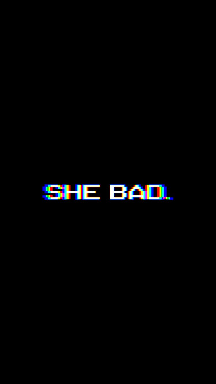 Shebad Background Black White Blackandwhite Cardib Effect Baddies Postbad Iphone 4 Phone Wallpaper