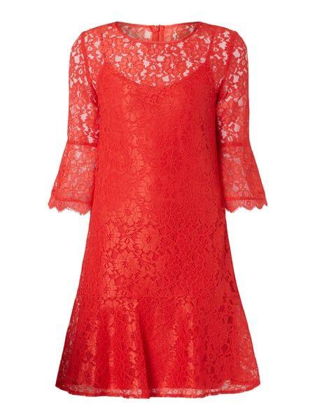 Kleid aus floraler Spitze Rot - 1   Dresses, Long sleeve ...