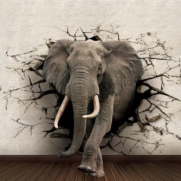 3D Wallpaper WP123 | Mural wallpaper, Elephant wallpaper, 3d wallpaper mural