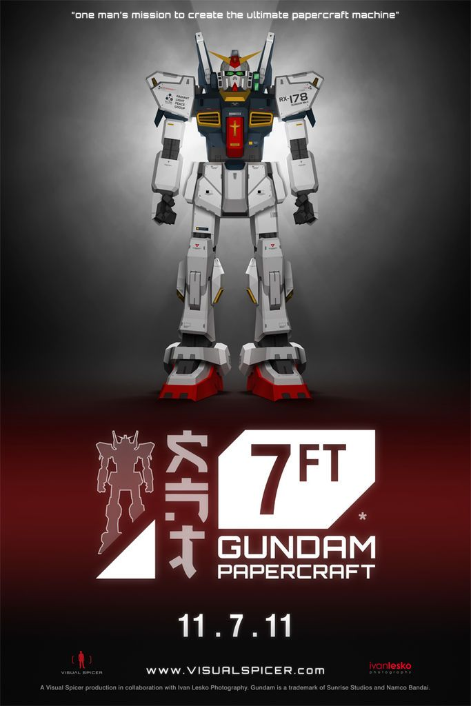http://www.instructables.com/id/7FT-Gundam-Ultimate-Papercraft-1/