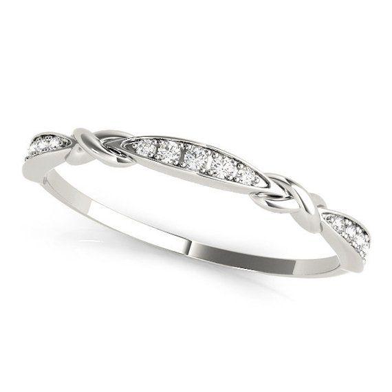 1ba88870ec7e58 Best Seller! Dainty Diamond Ring/ Dainty Diamond Band, Skinny Diamond Ring,  Diamond Stackables, Art
