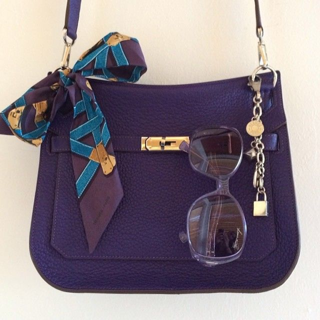 Hermes - Purple Jypsiere and Twilly (from swedishandstylish)  7f6f6858030ec