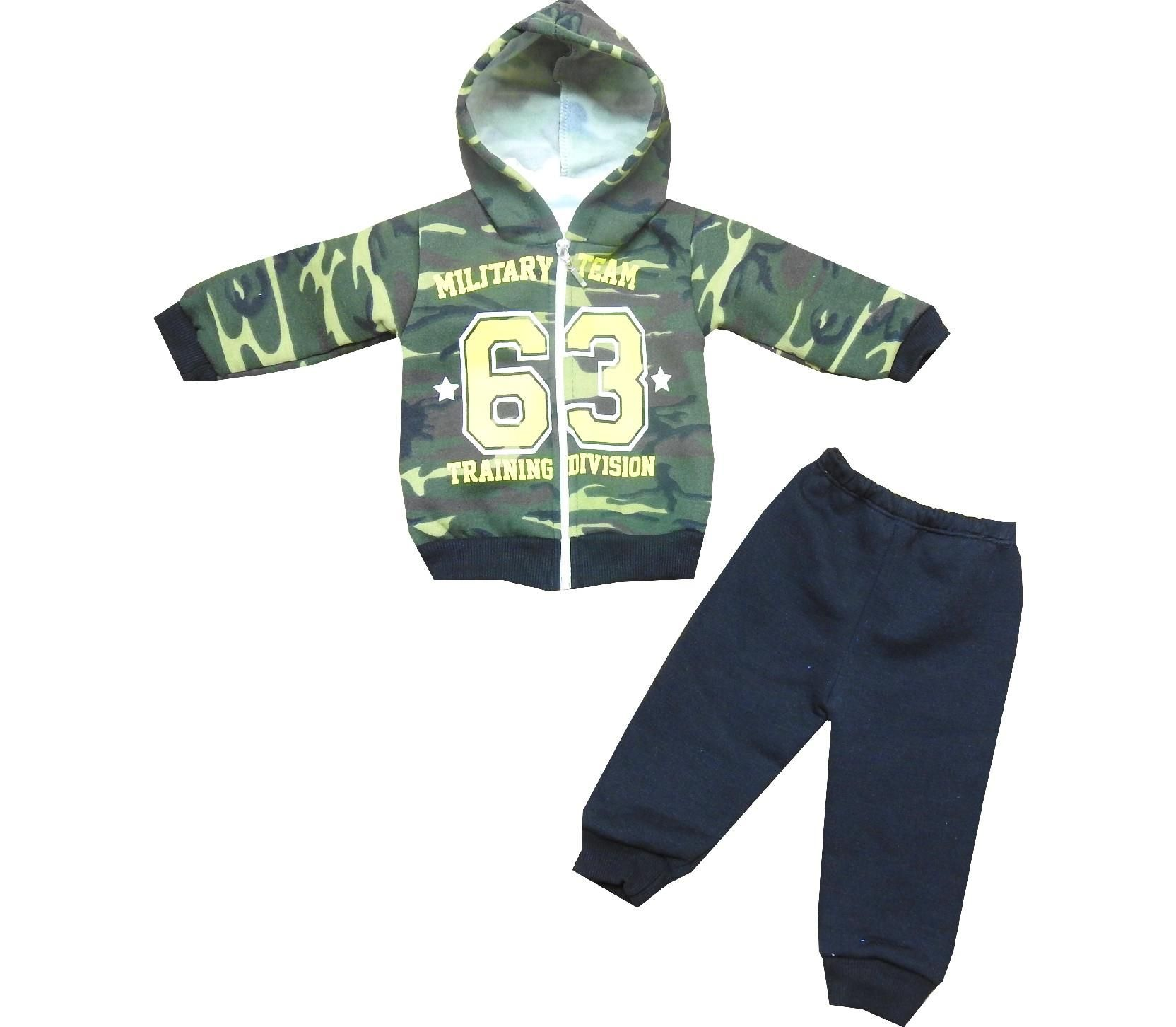 1773 Wholesale 63 printed camouflage hooded three ply sweatshirt & t