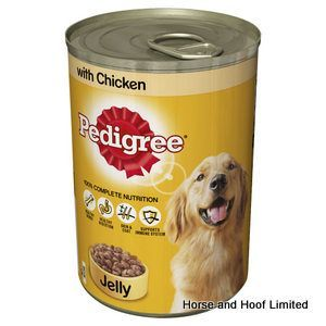 Pedigree Chicken Dog Food Chunks In Jelly Tins 12 X 385g Dog
