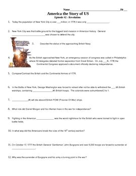 Video Study Guide For Episode 2 Revolution Of America The Story Us Movie Comes Complete With Answer Key Questions Follow Film In Order