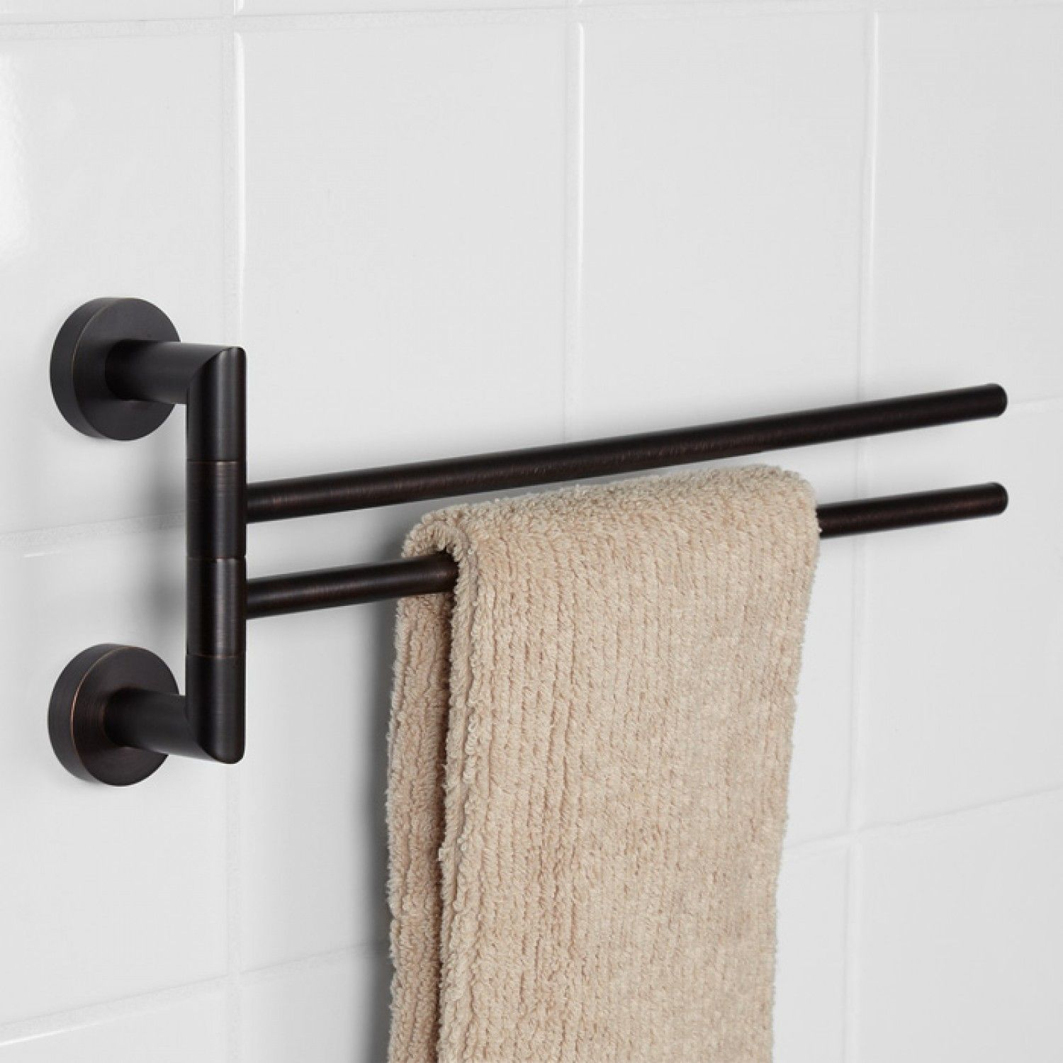 Bristow Double Swing Arm Towel Bar Bathroom Towel Bar Bathroom Towel Bar Double Swing