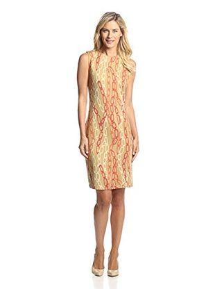 J. McLaughlin Women's Devon Printed Dress (Camel/Orange)