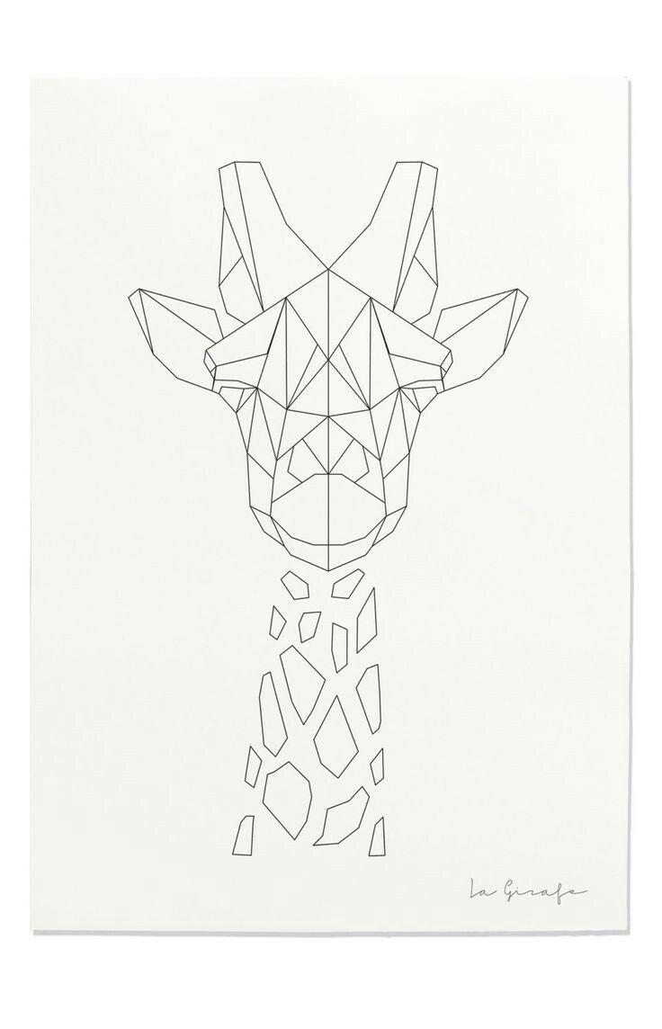 Pin de Rosa T en Art | Pinterest | Jirafa, Dibujo y Bordado