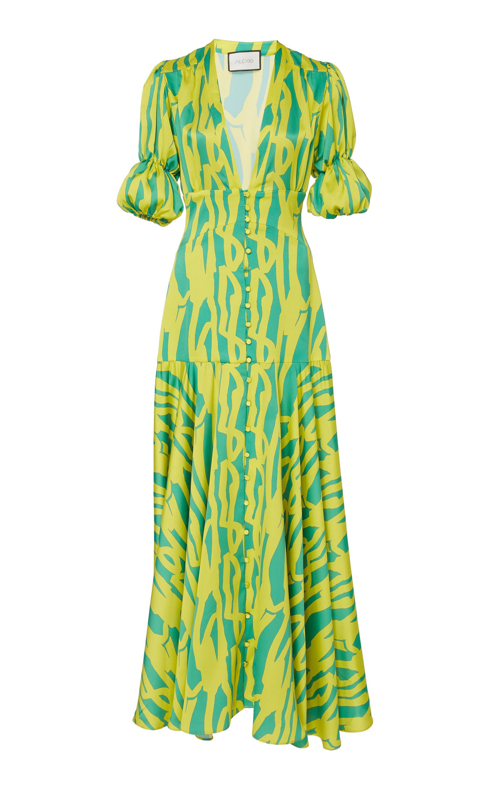 528a45be620772 Alexis Zuella Printed Crepe De Chine Maxi Dress in 2019 | Products ...