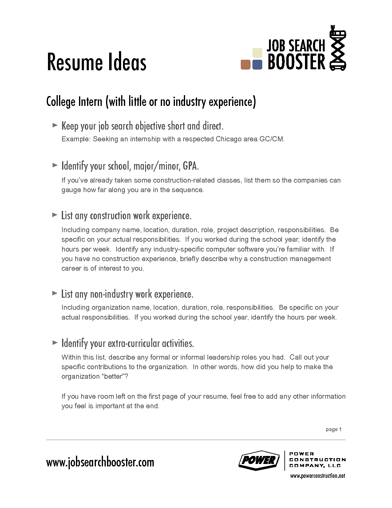 professional objectives for resumes