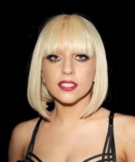 Lady Gaga Sports New Mint Blonde Locks Platinum Blonde Hair Short Blonde Hair Real Human Hair